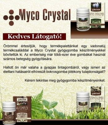 Myco Crystal termékcsalád - Gyógygombák